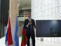 Lietuvos ir Olandijos atstovai Ženevoje atidarė Pasaulio spaudos fotografijos parodą
