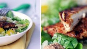 Vištienos salotos su dribsniais