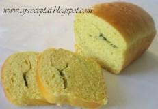 Duona su česnakiniu sviestu ir žalumynais