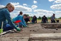 2016 m. archeologinių tyrinėjimų akimirka. Ž. Montvydo nuotr.