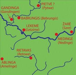 Ceklio žemės vietovardžiai (1253 m.)