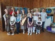 Parodos atidaryme koncertavo Aulelių vaikų folklorinis ansamblis