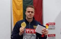 """Europos čempionu tapęs plaukikas Danas Rapšys: """"Šis medalis yra Lietuvai"""""""