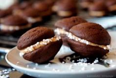 Kakaviniai sausainiai su žemės riešutų kremu