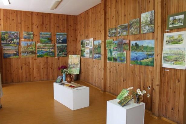 """Renginio metu buvo galima aplankyti tarptautinio dailininkų plenero """"Užpaliai 2018"""" darbų parodą"""