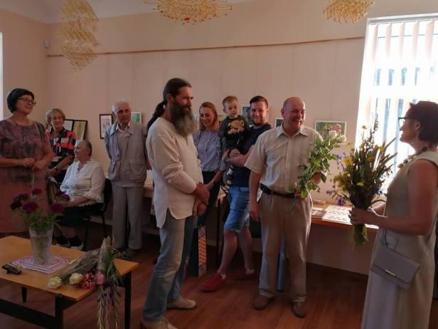 Tautodailininko Viktoro Mirošničenkos parodos atidarymas Vabalninko bendruomenės namuose