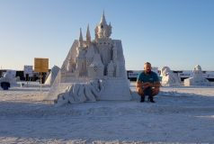 Andrius Petkus smėlio skulptūrų festivalyje JAV susižėrė visus apdovanojimus