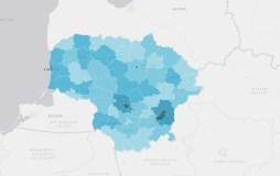 Parengti virtualūs žemėlapiai, leidžiantys analizuoti su koronavirusu susijusius statistinius duomenis