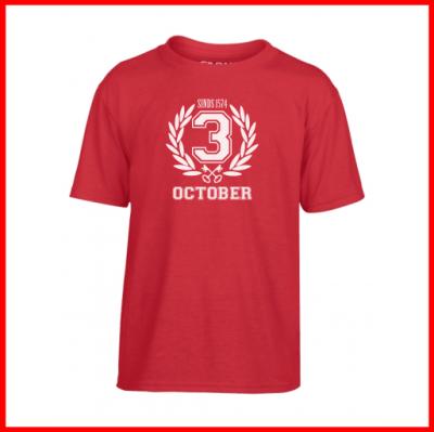 Minikoraal T-shirt 3 oktober leiden