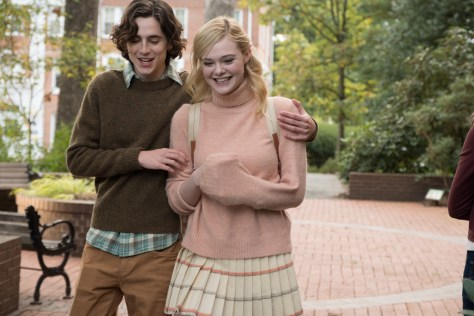 Timothée Chalamet & Elle Fanning in A Rainy Day in New York recensie