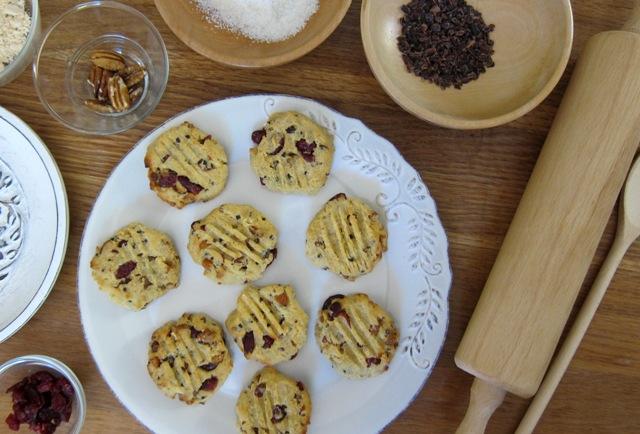 Pecan, Almond & Cranberry Choc-Chip Cookies