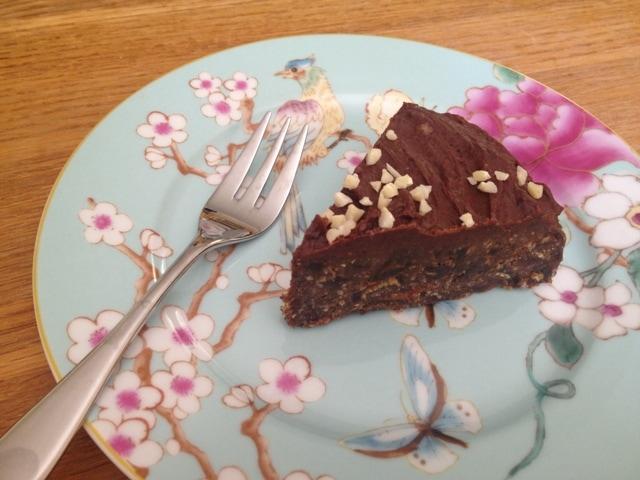 Raw Chocolate Fridge Cake (dairy-free, sugar-free, grain-free, gluten-free)
