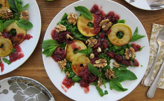 Cranberry, Walnut, Mint & Apple Christmas Salad