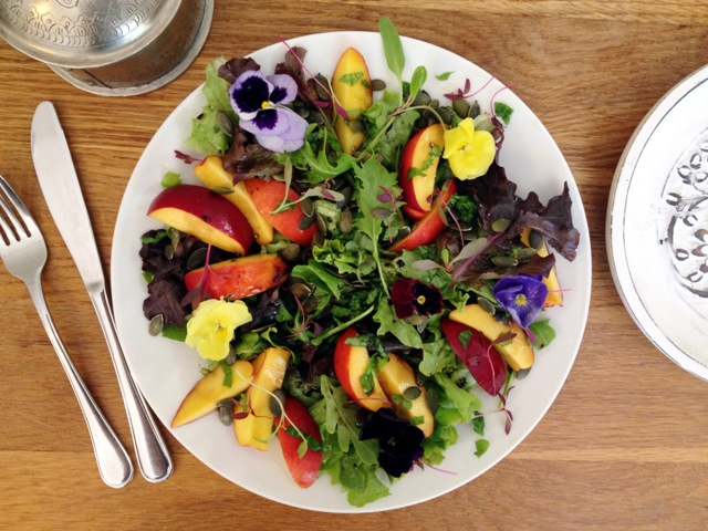 Nectarine, Basil & Balsamic Salad
