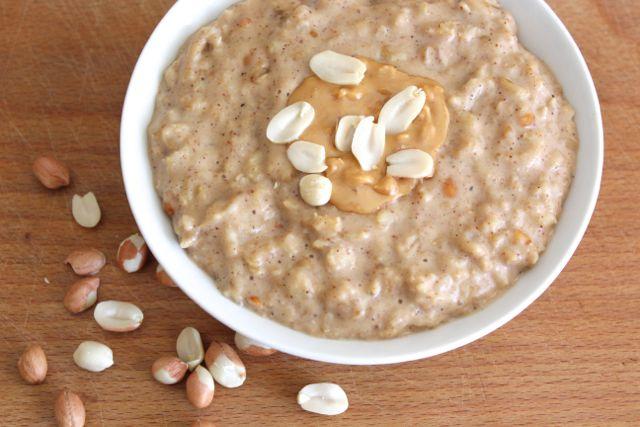 Creamy Peanut Butter Oats (gluten-free, sugar-free, soy-free)