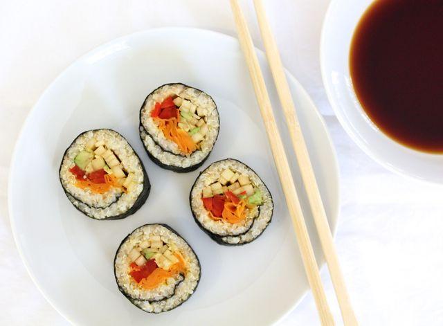 Vegan Quinoa & Millet Sushi