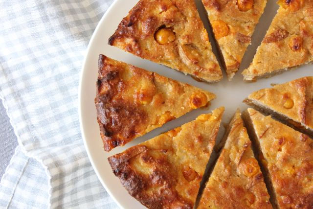 Gooseberry & Pear Pie (grain-free, gluten-free, sugar-free, dairy-free)