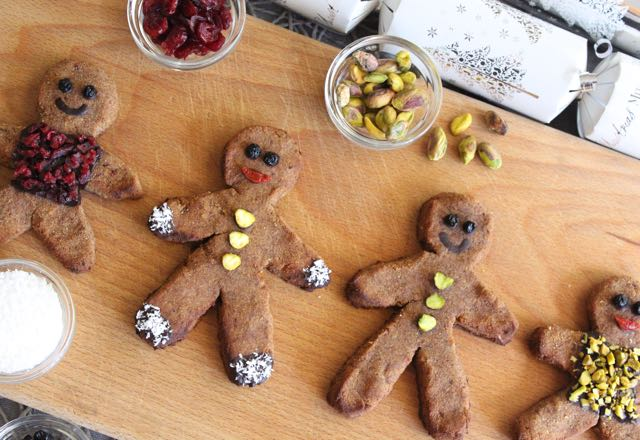 Healthy Gingerbread Men (grain-free, gluten-free, sugar-free, dairy-free)