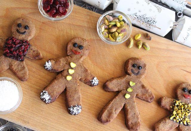 Healthy Gingerbread Men (grain-free, gluten-free, sugar-free, dairy-free)
