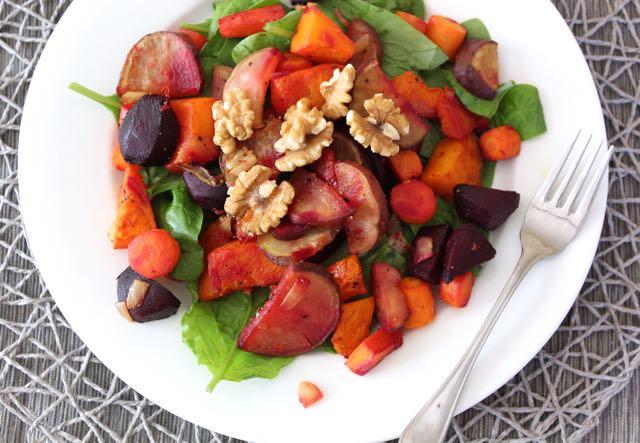 Roasted Root Vegetable & Walnut Salad