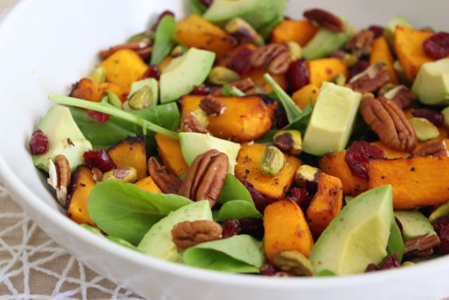 Pumpkin, Cranberry, Pecan & Pistachio Salad