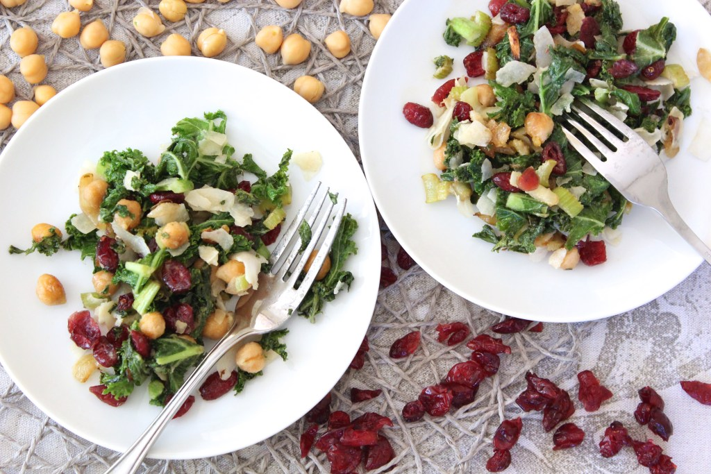 Chickpea, Kale, Cranberry & Coconut Stir Fry