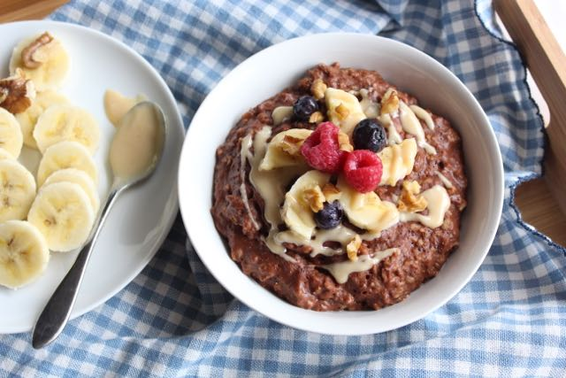 The Best Chocolate Oatmeal Recipe (gluten-free, dairy-free, sugar-free)