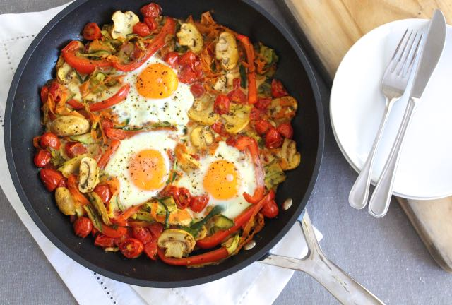 Baked Egg & Vegetable Stir Fry