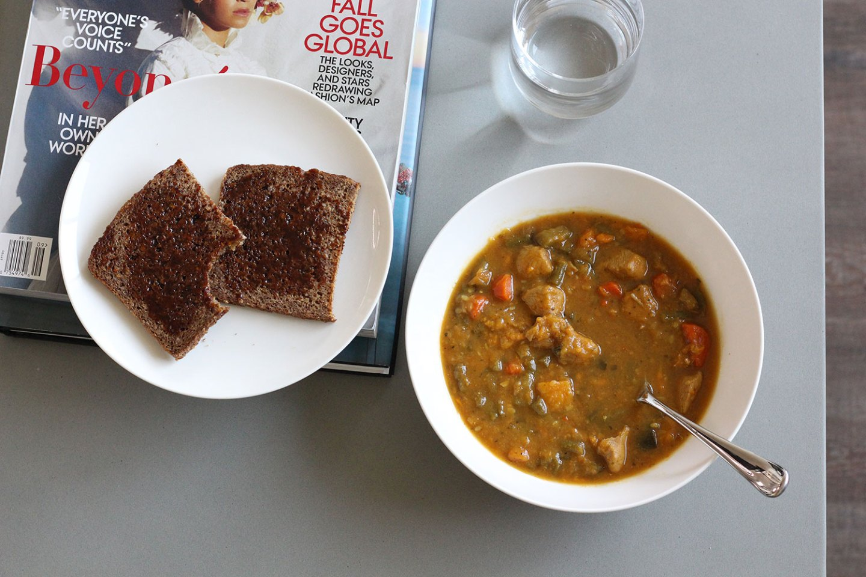 Chicken Broth, Sweet Potato & Vegetable Soup (dairy-free, gluten-free)