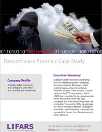 Ransomware Forensic Case Study by LIFARS