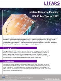 Incident Response Plan Guide by LIFARS