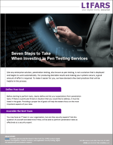 Seven Steps to Take When Investing in Pen Testing Services