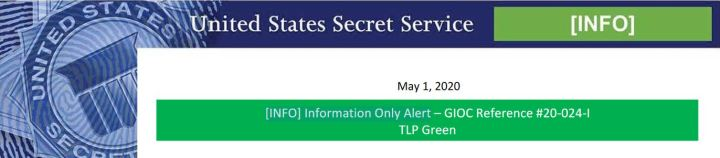 USSS Increase in Extortionate Emails Alert