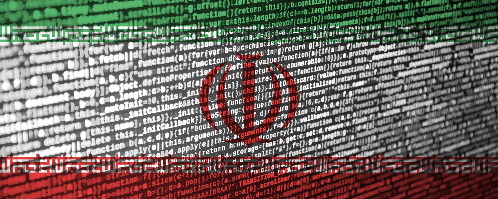 Iran Flag Is Depicted On The Screen With The Program Code