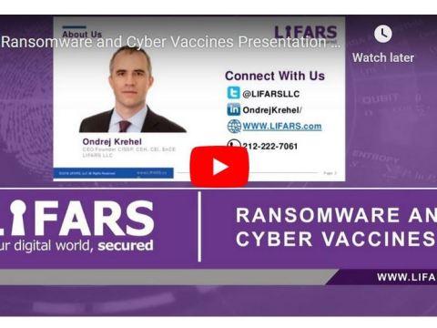 Ondrej Krehel Ransomware and Cyber Vaccines webinar