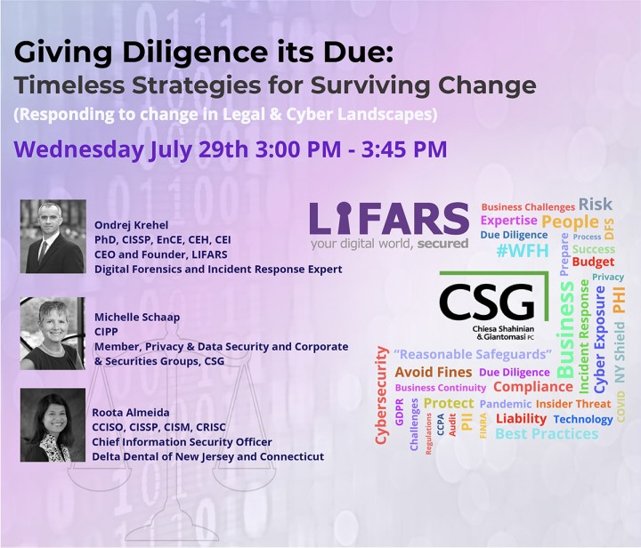 Giving Diligence its Due - Legal and Cyber Strategy Webinar