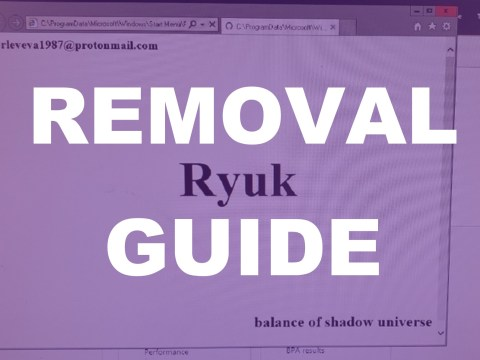 Ryuk Ransomware Removal Guide