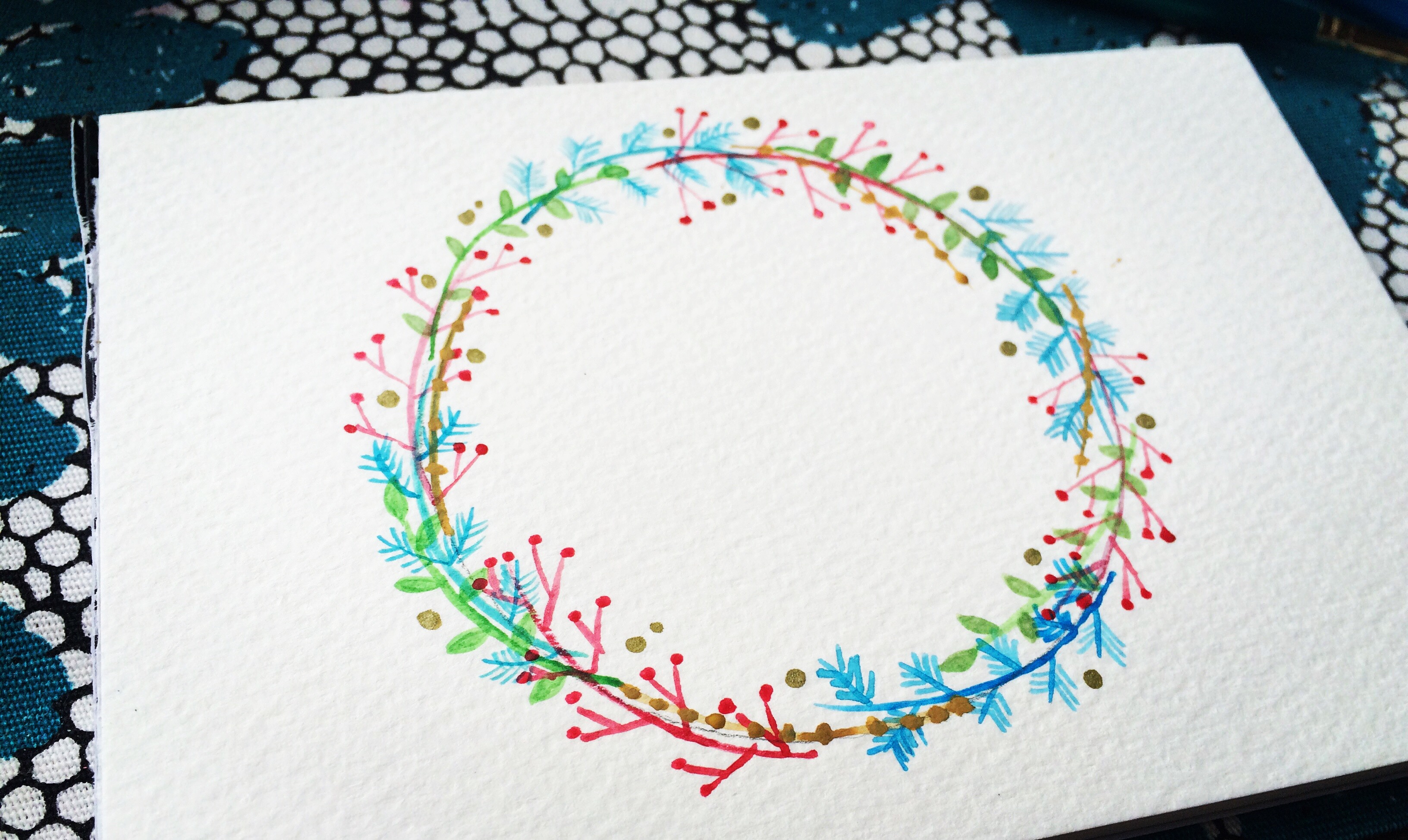 Floral Watercolor Wreaths Tutorial Life Athon