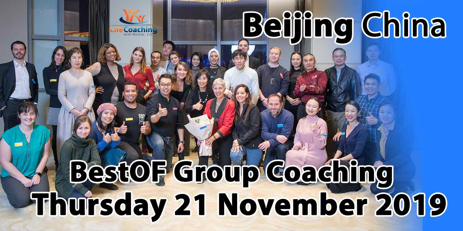 Image of diverse group of people living in Beijing China attending Life Coaching With Melody's BestOF Group Coaching using The 5-Elements Coaching Tool