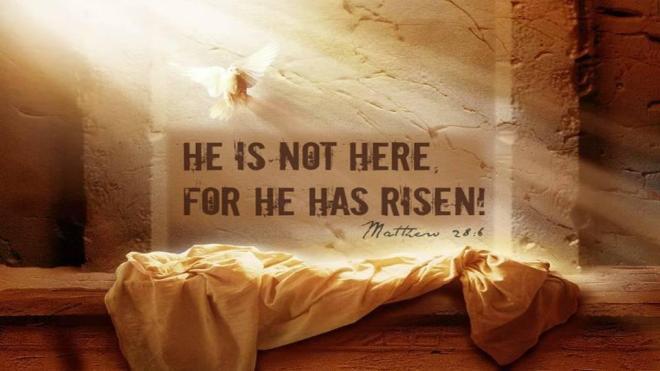 Lent 2021 Easter Sunday He is Risen