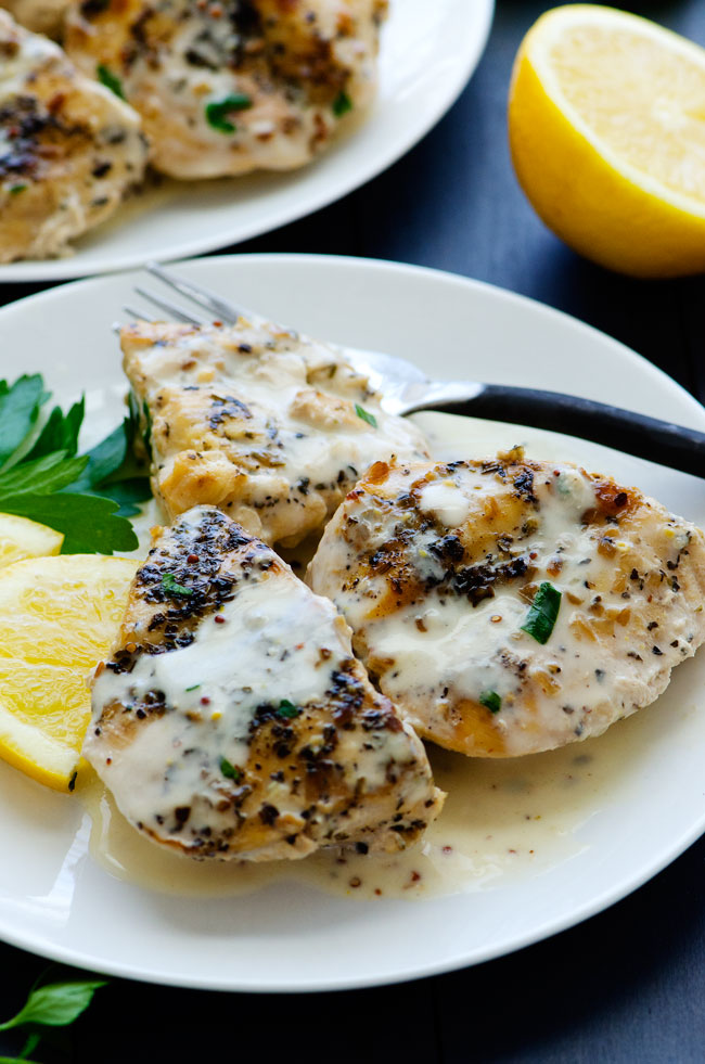 cheap dinner ideas, crock pot creamy lemon chicken