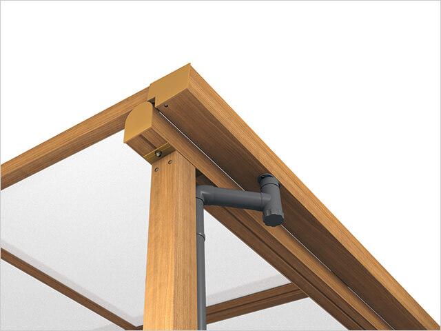 三協アルミ:ナチュレS シンプルな屋根デザインによりすっきりとした印象