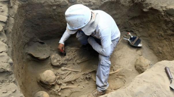 В Перу было обнаружено место массового захоронения детей 12-15 века.
