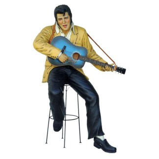 Elvis Style Singer 3D Realistic Life Size Rock And Roll Singer Model