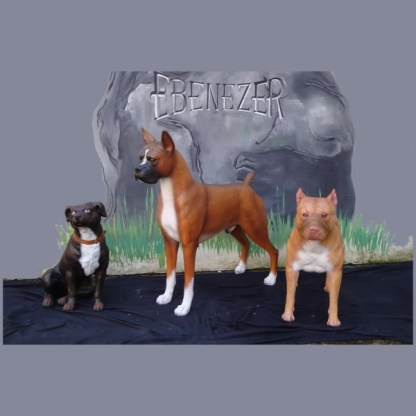 Boxer, Pit Bull and Staffordshire Bull Terrier Dog Models