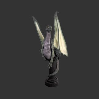 Dragon Pedestal Green Life Size Model