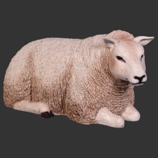 Texelaar Sheep Lying Down Life Size Model