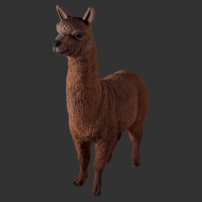 Alpaca Life Size Wild Animal Model