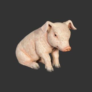 Piglet Sitting Realistic 3D Statue