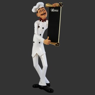 Chef Menu Board Counter Top 3D Realistic Figure